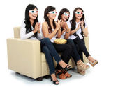 Applause at the movie in 3d — Stock Photo