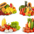 Fruits and vegetables isolated on white background — Stock Photo #19850747