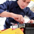 Worker prepare equipment — Stockfoto