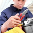 Royalty-Free Stock Photo: Worker prepare equipment