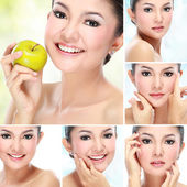 Beautiful asian woman face — Stock Photo