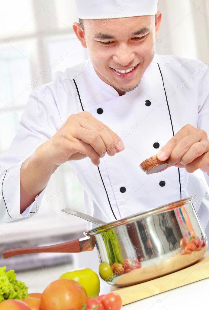 Var n chef de cocina foto de stock odua 19851251 - Cocinas chef ...