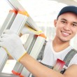 Worker with ladder — Stock Photo #20561587