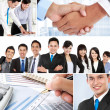 Stock Photo: Collage of asian business