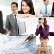 Collage of asian business — Stock Photo