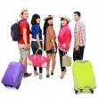 Stock Photo: Group of young tourist