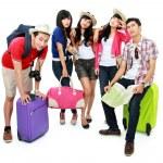 Groupe de jeunes touristes — Photo #21128269