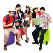 Group of young tourist - Stockfoto