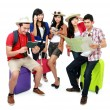 Group of young tourist - Stock Photo