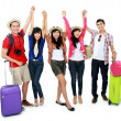 Group of young tourist — Stock Photo #21128381