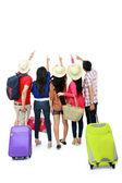 Grupp av turist — Stockfoto