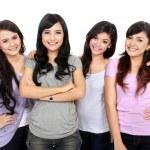 Group of happy teenagers — Stock Photo
