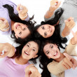 Teenage girls on the floor - Stock Photo