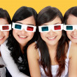 3d glasses woman portrait — Stock Photo