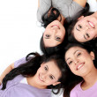 Teenage girls lying on white floor — Stock Photo #21236001