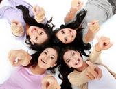 Teenage girls on the floor — Stock Photo