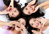 Teenage girls on the floor — Stock Photo