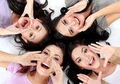 Teenage girls on the floor — Foto de Stock