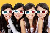 3d glasses woman portrait — Stock Photo