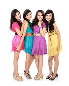 Smiling teenage girls — Stock Photo