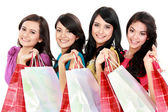 Happy shopping woman — Foto de Stock