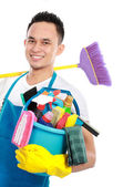 Male cleaning service — Stock Photo