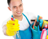 Cleaning service spraying — Stock Photo