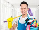 Servicio de limpieza en la oficina — Foto de Stock