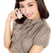 Smiling business woman talking on the phone — Stock Photo
