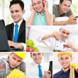 Stock Photo: Collage portrait of active man