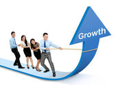 Growth chart concept — Stock Photo