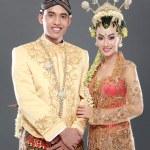 Traditional java wedding couple — Stock Photo #24999783
