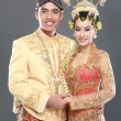 Traditional java wedding couple - Stock Photo