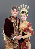 Traditional java wedding couple — Stock Photo