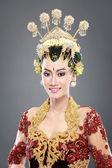 Woman traditional wedding dress of java — Stock Photo