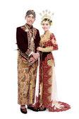 Traditional java wedding couple — Stock Photo