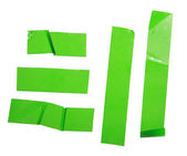 Strips of masking green tape — Stock Photo
