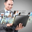 Business man with laptop — Stock Photo #27112523