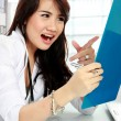 Stock Photo: Busy doctor female