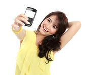 Teenager girl take the picture her self — Foto Stock