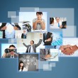 Variety of photos are projecting business — Stock Photo