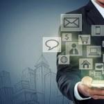 Modern communication technology mobile phone — Stock Photo