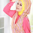Happy beautiful muslim woman smiling — Stock Photo