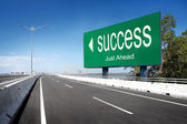 Road with sign of success — Stock Photo