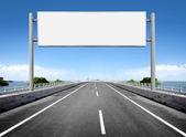 Blank billboard or road sign — Stock Photo
