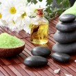 Zen basalt stones and spa products — Stock Photo #38952291