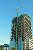 High-rise building under construction — Stock Photo