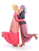 Beautiful muslim girl friend together — Stock Photo