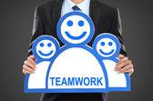 チーム リーダー。会社の上司。チームワーク — ストック写真