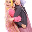 Two beautiful moslem woman having fun together — Stock Photo #41020757